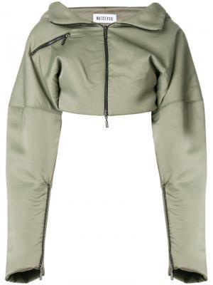 Укороченная куртка с заниженной линией плеч Maticevski. Цвет: зелёный