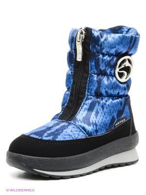 Дутики Alaska Originale. Цвет: синий, черный