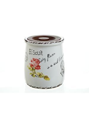 Банка для сыпучих продуктов Flower, ENS GROUP. Цвет: коричневый
