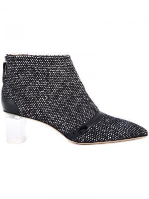 Твидовые ботинки Schofield Jerome Rousseau. Цвет: чёрный