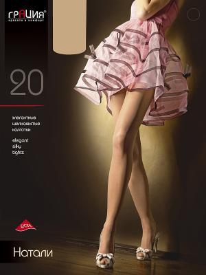 Колготки женские Натали 20 XL Грация. Цвет: серо-коричневый