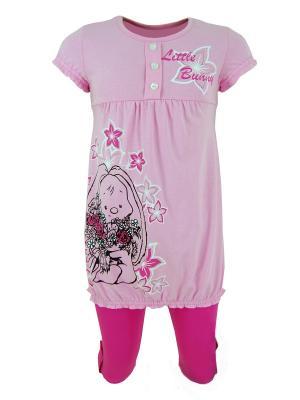 Комплект для девочек Милослава. Цвет: розовый