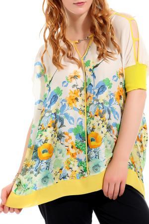 Блуза GRAND POMMES. Цвет: белый