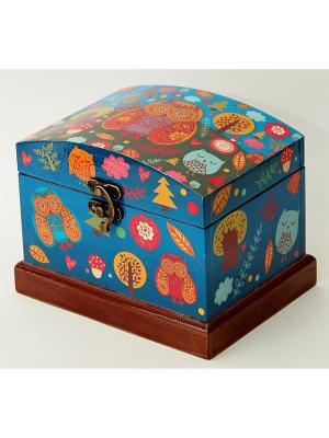 Шкатулка декоративная Сова Magic Home. Цвет: синий