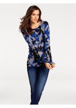 Пуловер PATRIZIA DINI. Цвет: синий
