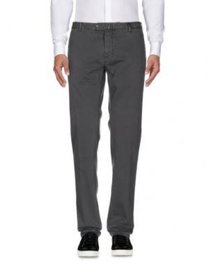 Повседневные брюки GIO ZUBON. Цвет: свинцово-серый