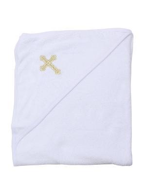 Крестильное полотенце Клякса. Цвет: молочный