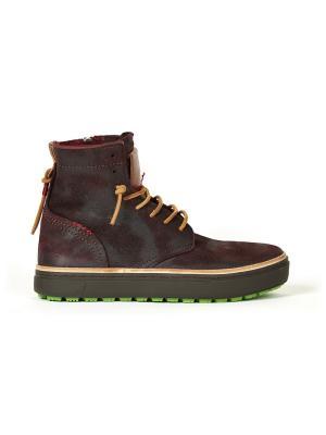 Ботинки Satorisan. Цвет: темно-бордовый