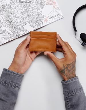 Forbes & Lewis Светло-коричневая кожаная кредитница. Цвет: коричневый