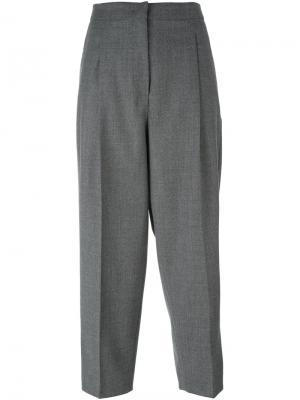 Укороченные брюки Sportmax. Цвет: серый
