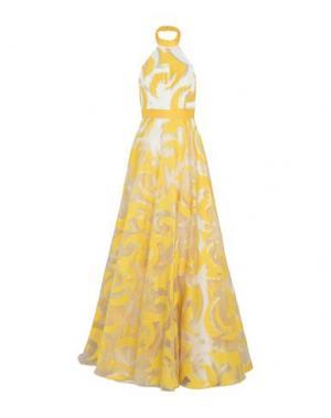 Длинное платье ALLURE. Цвет: желтый