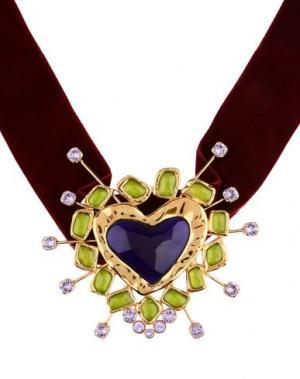 Ожерелье DSQUARED2. Цвет: красно-коричневый
