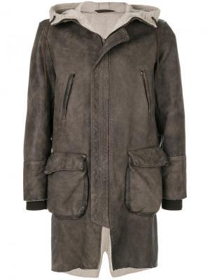 Куртка на молнии Salvatore Santoro. Цвет: коричневый