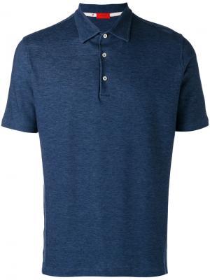 Классическая футболка-поло Isaia. Цвет: синий