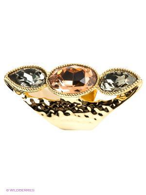 Кольцо Bijoux Land. Цвет: золотистый, коричневый