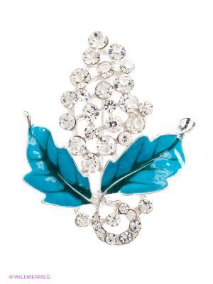Брошь Lovely Jewelry. Цвет: голубой, серебристый