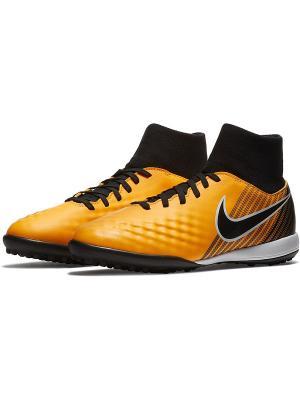 Бутсы JR MAGISTAX ONDA II DF TF Nike. Цвет: оранжевый