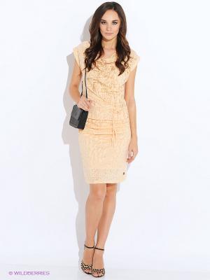Платье Anna Scott. Цвет: бежевый