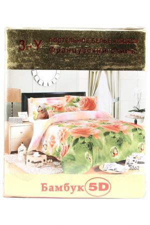 Постельное бельё 2 сп. 70x70 Французский стиль. Цвет: мультиколор