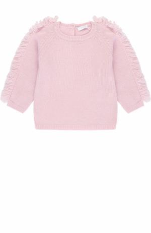 Шерстяной пуловер с бахромой Il Gufo. Цвет: розовый