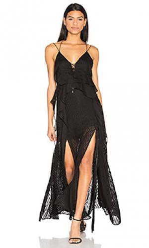 Макси платье barton Acler. Цвет: черный