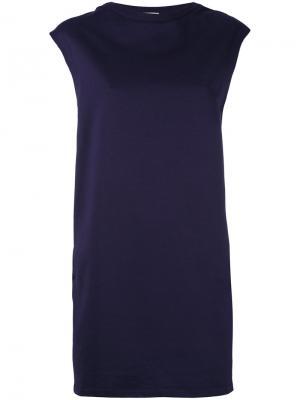 Спортивное платье со шнуровкой на поясе Moncler. Цвет: синий