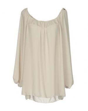 Блузка TRY ME. Цвет: бежевый
