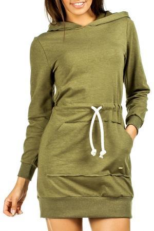 Платье Moe. Цвет: khaki