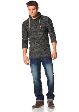 Пуловер JOHN DEVIN. Цвет: черный/серый меланжевый
