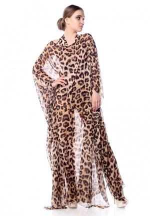 Платье Seanna. Цвет: бежевый