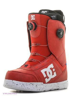 Ботинки сноубордические DC Shoes. Цвет: красный