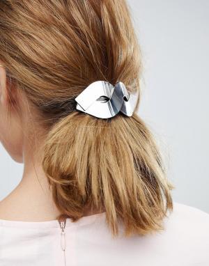 ASOS Металлическая заколка для волос. Цвет: серебряный