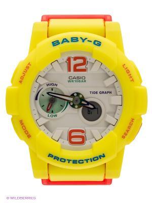 Часы Baby-G BGA-180-9B CASIO. Цвет: желтый