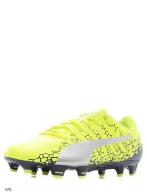 Бутсы evoPOWER Vigor 4 GRAPHIC FG PUMA. Цвет: желтый