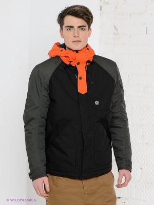 Куртка Duck and Cover. Цвет: черный, оранжевый