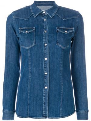Джинсовая рубашка Jayal Dondup. Цвет: синий