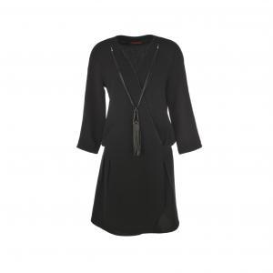 Платье портфель Génoise, со съемным колье RENE DERHY. Цвет: черный