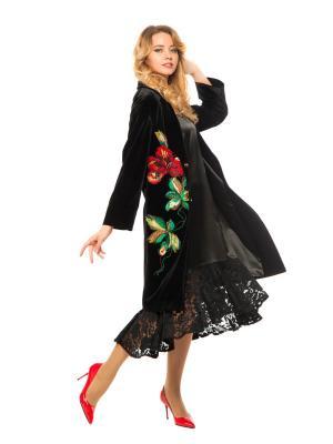 Жакет, нижнее платье Yukostyle. Цвет: черный