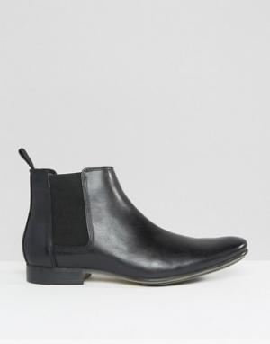 Frank Wright Кожаные ботинки челси. Цвет: черный