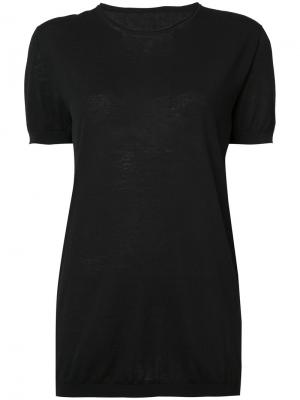 Блуза с короткими рукавами Uma Wang. Цвет: чёрный