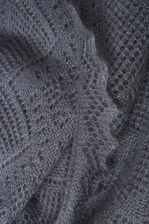Пуховый платок Оренбургский. Цвет: серый