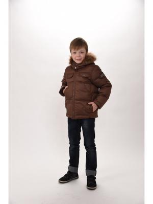 Куртка для мальчиков TOPKLAER. Цвет: коричневый