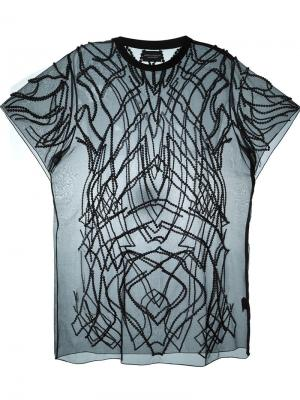 Топ Maracaibo Marcelo Burlon County Of Milan. Цвет: чёрный