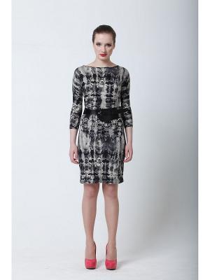 Платье Quattro. Цвет: темно-серый
