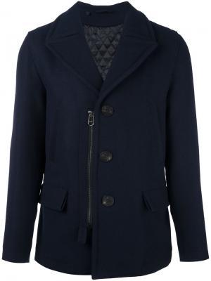 Пальто-бушлат на молнии Lanvin. Цвет: синий
