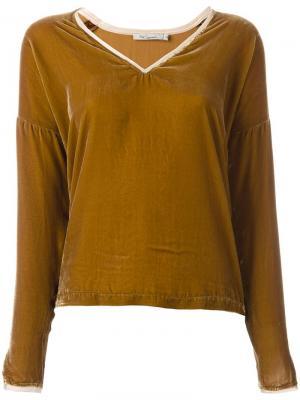 Блузка Vicky Mes Demoiselles. Цвет: коричневый
