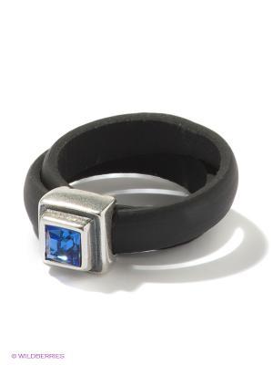 Кольцо Jenavi. Цвет: голубой, серебристый, черный
