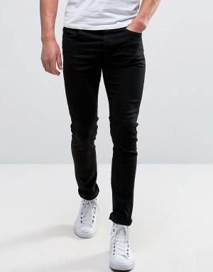 Selected Homme Стретчевые джинсы скинни. Цвет: черный