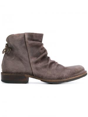 Ботинки с оборками Fiorentini +  Baker. Цвет: коричневый