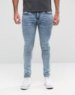 Loyalty & Faith Голубые джинсы скинни с эффектом кислотной стирки. Цвет: синий